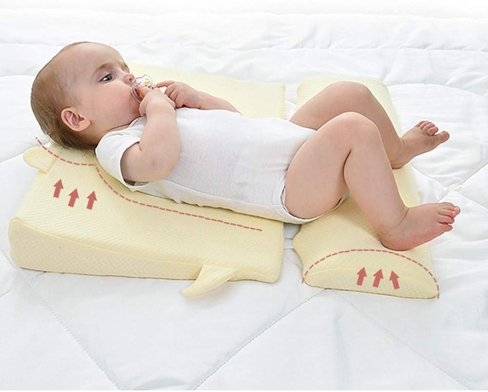 JUNBABY Lit de bébé, cale de lit, cale de Sommeil, Coussin et Support supplémentaires, 3 Options d'élévation, surélevé, Insert-A B
