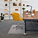 Floortex Chair Mat 48' x 60' for Low Pile Carpets, Clear, Model:FRPF1115225EV