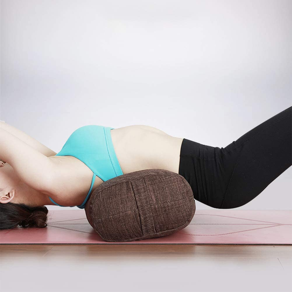 Coussin De Support De Yoga pour lexercice R/éparateur AIZYR Oreiller De Coussin De Yoga Bolster De Sarrasin Biologique avec Housse Lavable