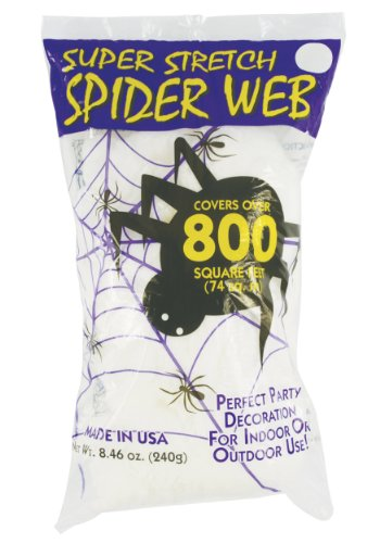 Super Stretch White Spider Web Prop 8.4 Oz