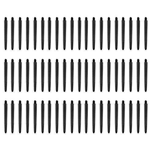 Sharplace 2BA Dartschäfte Dartpfeil-Schäfte 49mm Kunststoff, 60er / Set , Schwarz