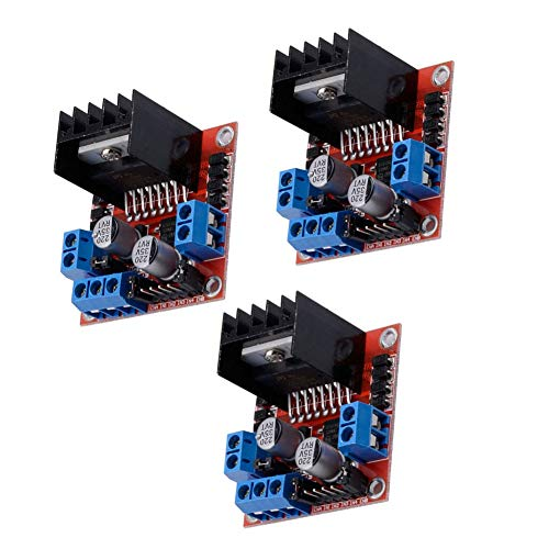 Schrittmotor-Treibermodul L298N DC Dual H-Bridge Controller Board kompatibel mit Arduino Raspberry Pi 3 Stück