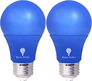 2 Pack BlueX 6W A19 LED Blue Light Bulb Dimmable - (50Watt Equivalent) - E26 Base Blue LED Blue Bulb, Party Decoration, Porch, Home Lighting, Holiday Lighting, Decorative Illumination (Pink)