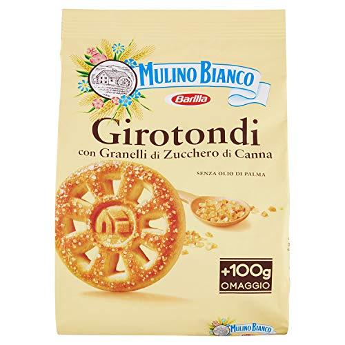 Mulino Bianco Biscotti Girotondi con Granelli di Zucchero di Canna - 800 g