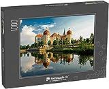 fotopuzzle.de Puzzle 1000 Teile Sachsen, Schloss Moritzburg, Park, Schloss über dem See, See, Spiegelung im See, Deutsche Architektur, Deutschland