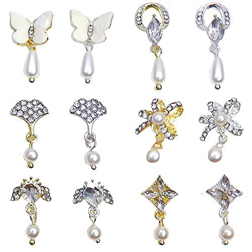 12Pcs Dangle Nail Charms Jewelry...
