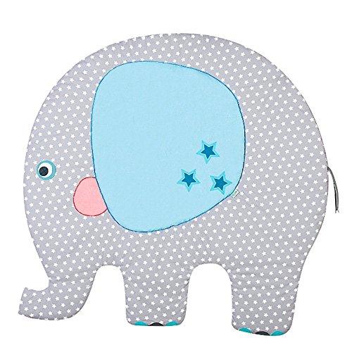 Odenwälder Motiv-Krabbeldecke Elefant Georgy 125x130cm