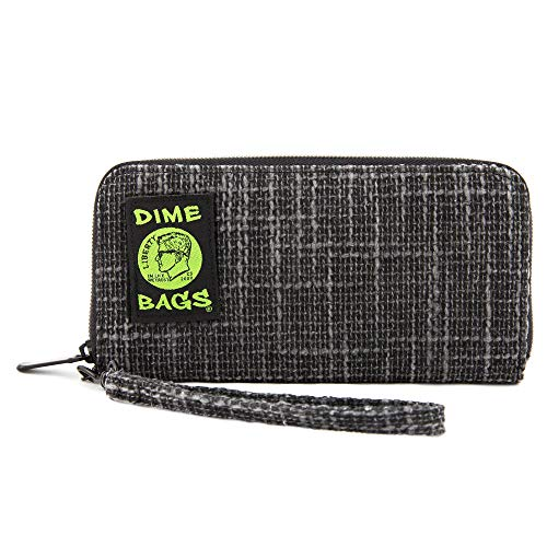 Dime Bags Wristlet Wallet - RFID-Blocking Carrying Case with Secure Zipper and Wristlet Loop (Black)