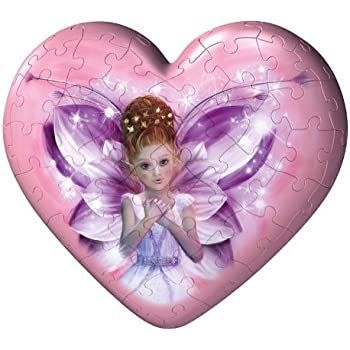 Fairies Hearts 60 Piece Puzzleball Red Heart