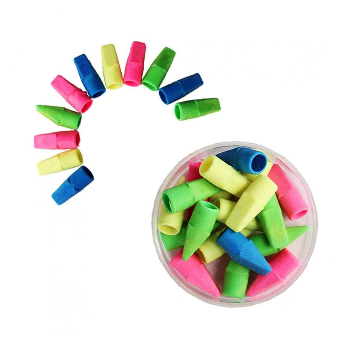 100pcs Be super welcome Pencil Erasers Top T Eraser Cap New popularity