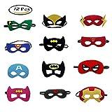 Morkia Masques de Super-Héros, 12pcs Masques pour Enfants Dress Up Masque de Super-héros Cosplay Pour Enfants Cadeaux...