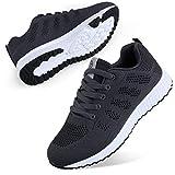 Youecci Zapatillas de Deportivos de Running para Mujer Deportivo de Exterior Interior Gimnasia Ligero Sneakers Fitness Atlético Caminar Zapatos Transpirable Gris 35 EU