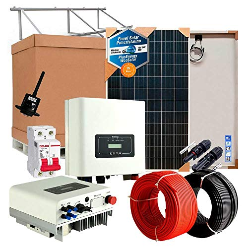 Kit Solar Autoconsumo 3000w/15000w día Inversor Inyección a Red vertido cero