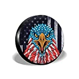 cozipink Eagle American Flag Spare Tire Cover Wheel Protectors Weatherproof Universal for Trailer Rv SUV Truck Camper Travel Trailer 14' 15' 16' 17'