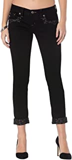 Miss Me Women's Modern Mix Cuffed Skinny Jeans