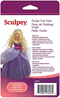 Polyform APM-71 Sculpey Flexible Push Mold, Woman Doll