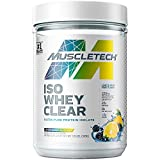 Whey Protein Powder   MuscleTech Clear Whey Protein Isolate   Whey Isolate Protein Powder for Women & Men   Clear Protein Drink   22g of Protein, 90 Calories   Lemon Berry Blizzard, 1.1lb(19 Servings)