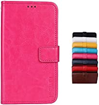 TP-LINK Neffos C5A Case Wallet style faux leather flip Case with Secure Magnetic Closure Lock and bracket function,Suitable for TP-LINK Neffos C5A (Rose red)