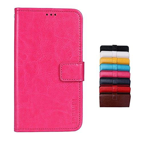 BRAND SET Hülle für Ulefone Power 6 Brieftasche Handyhülle Kunstleder Flip Hülle mit sicherer Magnetverschlussverriegelung & Stent-Funktion Handyhülle für Ulefone Power 6 (Rose rot)