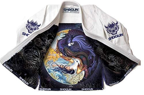 SHOGUN Fight Jiu Jitsu Gi Tao Premium 450g Pearl Weave Cotton BJJ White, A2