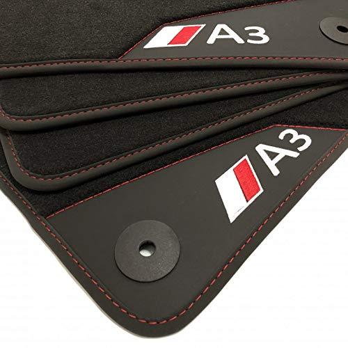 Zesfor Alfombrillas Cuero para Audi A3 8P (2003-2011)