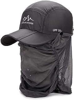 [FUPUTWO] キャップ UVカット スポーツ 折りたたみ 日よけ帽子 フェイスカバー 男女兼用