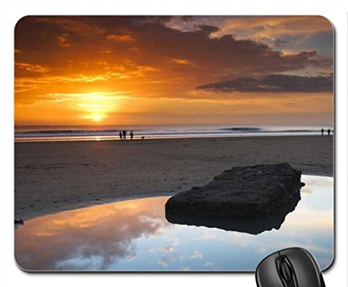 tidal pool on a beach at sunset Mouse Pad, Mousepad (Beaches Mouse Pad)
