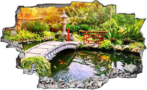 Japan Garten Landschaft Teich Wandtattoo Wandsticker Wandaufkleber C1166 Größe 40 cm x 60 cm