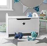 Caja de juguetes en color blanco con diseño de estrella organizador de juguetes Zeta