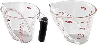 【セット買い】OXO 計量カップ アングルドメジャーカップ 大 1000ml & 計量カップ ミニ アングルドメジャーカップ 60ml