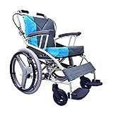 YIQIFEI Mobility Silla de Ruedas portátil, Scooters de Movilidad Plegables, Sillas de Ruedas autopropulsadas Ligeras Plegables Autopropulsadas con A (Silla)