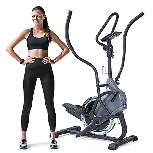 Stepper Elliptical Trainer Climber Exercise Machine with Curve Crank Digital Monitor for Cardio Fitness Home Workout…