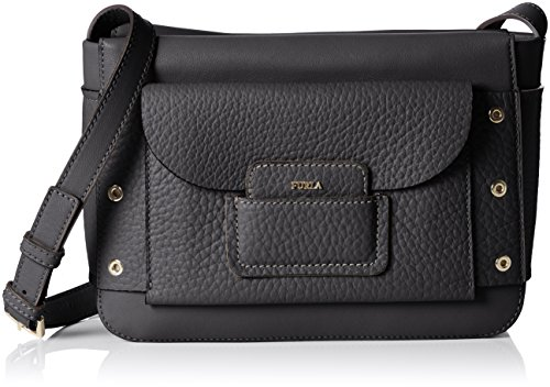 Furla Adele Small Crossbody, Women's Cross-Body Bag, Schwarz (Onyx), 8x17x24.5 cm (B x H T)