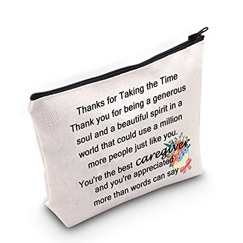 Caregiver Cosmetic Bag Caregiver Appreciation Thank You Gift You're The Best Caregiver Makeup Bag Nanny Babysitter Gift (the best caregiver bag)