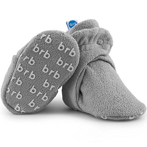 BirdRock Baby Fleece Booties Bio Baumwoll-Futter und rutschfeste Greifer (US 7, Koala)