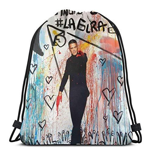 Alejandro SANZ Mochila unisex con cordón casual Bolsas de hombro Cinch Bag Poliéster impermeable Cuerdas Bolsas para Deportes Gimnasio Yoga Natación Viaje Escuela