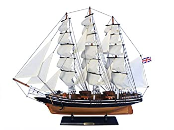 Hampton Nautical Wooden Cutty Sark Tall Model Clipper Ship 30