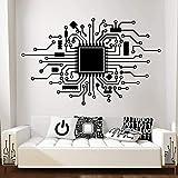 Tecnología de placa de circuito Computadora Producción de música digital Hacker Game Player Etiqueta de la pared Vinilo Mural A9 90x56cm