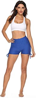 Beishi Womens Strap Sport Shorts, Women Casual Solid Color Bandage Pleated Hip Fitness Yoga Shorts