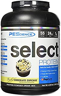PEScience Select Protein Powder, Chocolate Cupcake, 55 Serving, Whey and Casein Blend