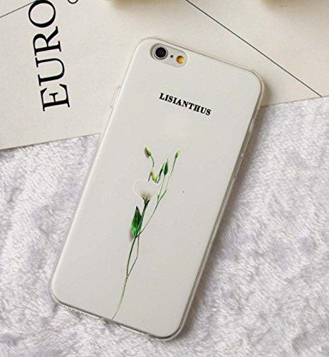 Kleine frisse telefoonhoes reliëf bloemen blad literatuur en kunst vrouwelijke modellen mantel voor telefoon hoge kwaliteit TPU materiaal beschermhoes voor iPhone 6 / Iphone6   Plus / Iphone7 / Iphone7 Plus / 5G (kleur: Lisianthus, size: I7 4.7 )