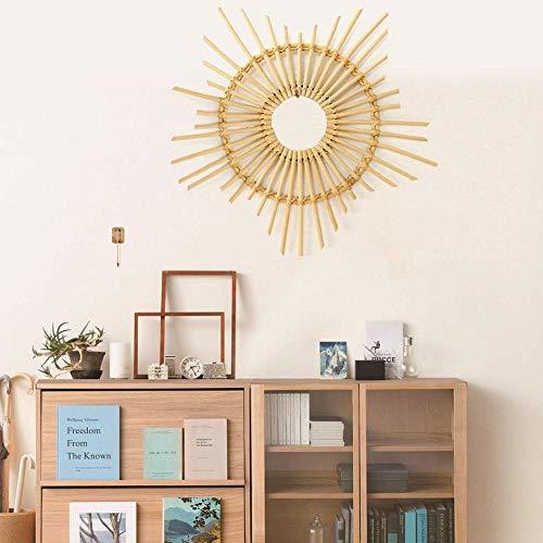 Piore Nordic Style Spiegel Framehouder Stervormige Home Fotolijst Muur Opknoping Rotan Rieten DIY Ambachten Frame Decoratie