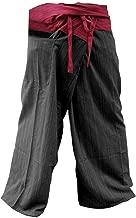 Memitr Thai Fisherman Pants Men's Yoga Trousers Gray Charcoal 2 Tone Pant