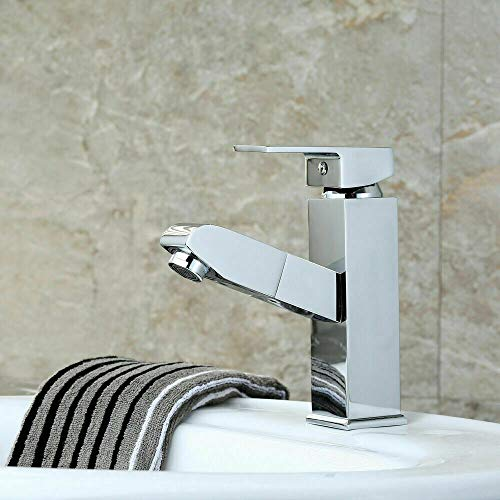 Aboyia - Grifo monomando para lavabo, de alta calidad, acabado cromado