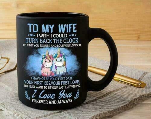 N\A Unicornio a mi Esposa, me gustaría Poder retroceder la Taza del Reloj, Taza de café de 11 oz