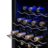 Klarstein Weinkühlschrank - Getränkekühlschrank, 48 Liter, 16 Flaschen, 4 Regaleinschübe, niedriges Betriebsgeräusch, Temperaturbereich: 08° - 18° C, Innenraumbeleuchtung, schwarz - 7