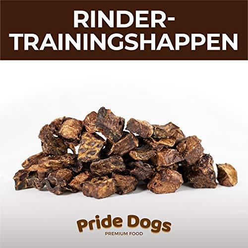 PrideDogs Trainingshappen Rind 1000g der Premium Kausnack für Ihren Hund | 100% Rind aus Deutscher Herstellung | im geruchsneutralen Beutel | Kauartikel.