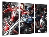Cuadros Cámara Cuadro Fotográfico Superheroe, America, Iron Man, Multicolor, 97 x 62 cm XXL