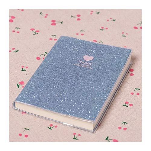 XJS Paperage Mini Amor corazón PVC portátil Diario de Papel Escuela Shiny Cool Kawaii Notebook Paper Agenda Horario Planeador Sketchbook Girl Regalos Cuaderno de Diario