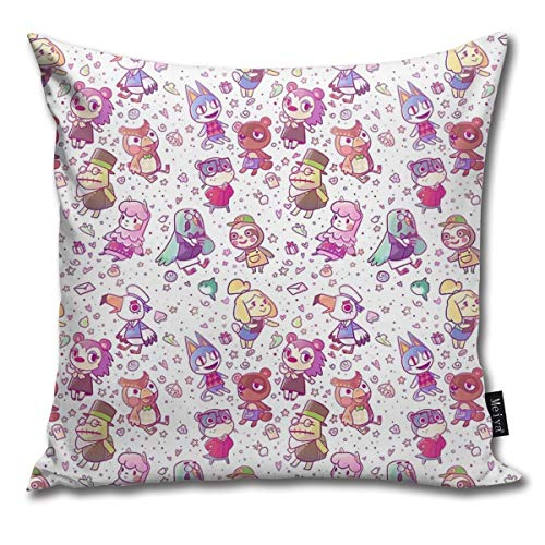 BlueBling Fashion Funny Throw Pillow Covers Animal Crossing Pattern Printed 18 x 18 inches Cases Cushion Cover Pillowcases for Home,Indoor,Bed,Gard